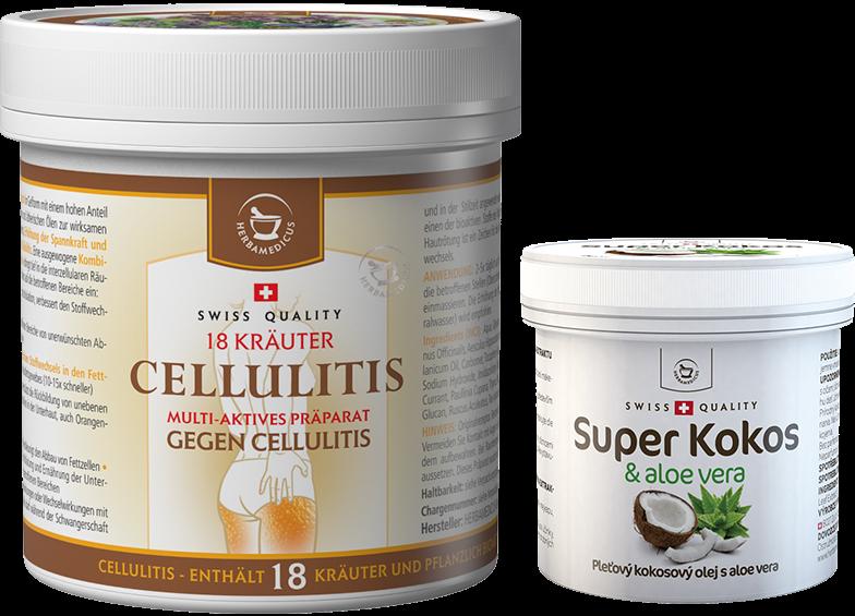 Large cosmetic bundle - Cellulitis + 2x Super Coconut with aloe vera