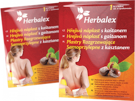 Herbalex hřejivé náplasti s kaštanem