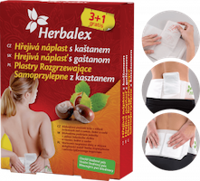 Herbalex hřejivé náplasti s kaštanem 4 ks + bederní pás