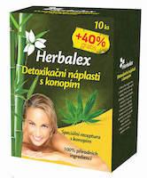 Herbalex detoxikační náplasti s konopím 14ks