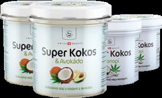 Kokosový balíček - 2x potravina s avokádem + 2x kosmetika s konopím