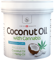 Coconut oil with Cannabis for skin use - 250 ml