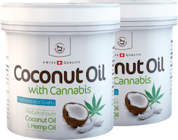 2 x Coconut oil with Cannabis for skin use - 250 ml