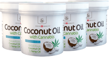4 x Coconut oil with Cannabis for skin use - 250 ml