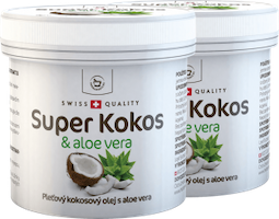 2 x Super Coconut with aloe vera for skin use - 150 ml + free gift package