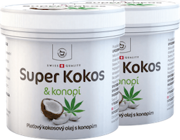 2 x Super Coconut with hemp for skin use - 150 ml + free gift package
