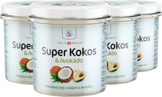 4 x Super Kokos s avokádem superpotravina - 300 ml