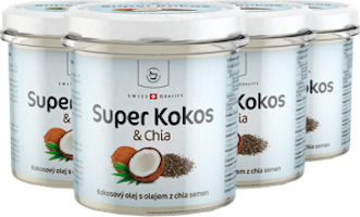 4 x Super Kokos s chia superpotravina - 300 ml