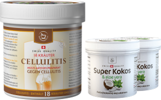 Large cosmetic bundle - Cellulitis + 2x Super Coconut with aloe vera